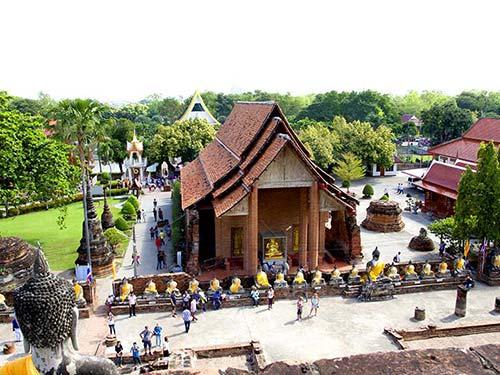 Wat Yai Chai Mongkol ubosot, Ayutthaya.