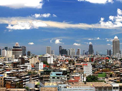 Bangkok from the Wat Saket.