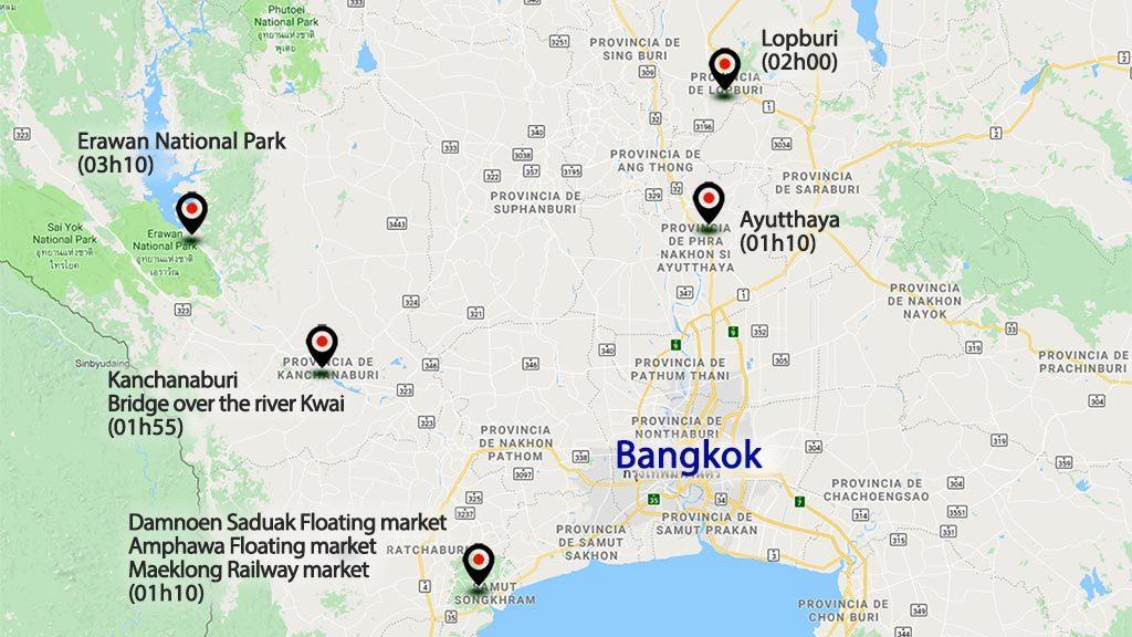 Bangkok area map.