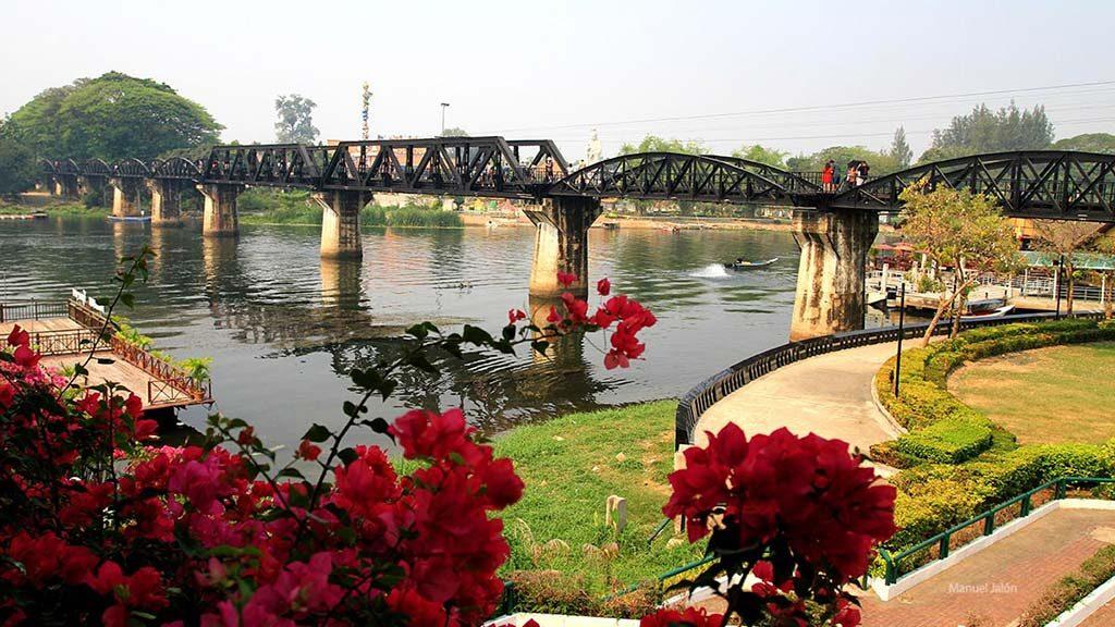 Bridge over the Kwai River, Kanchanaburi.