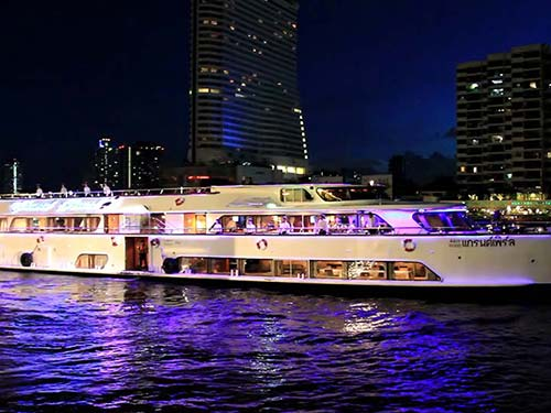 Cruiser on the Chao Phraya River.