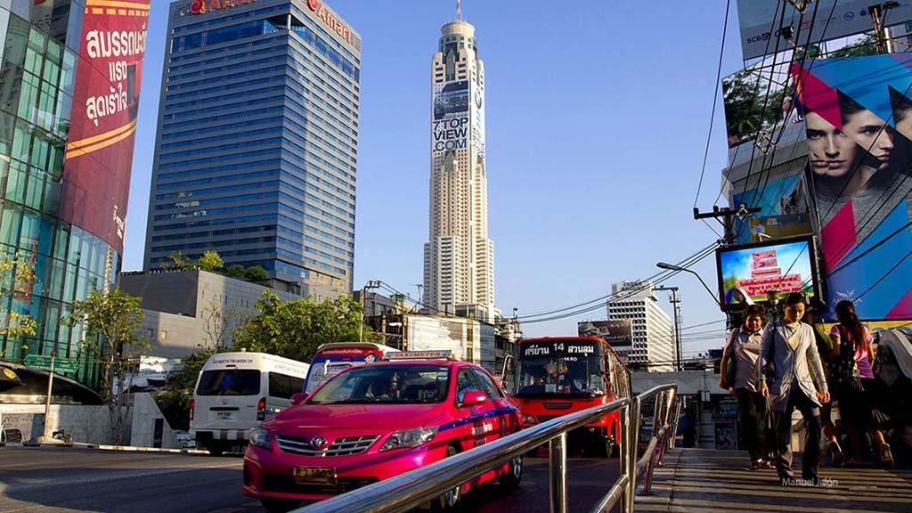 Bangkok downtown street.
