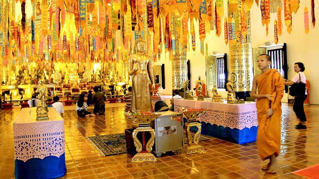 Assembly hall or vihan in Wat Chedi Luang, Chiang Mai.
