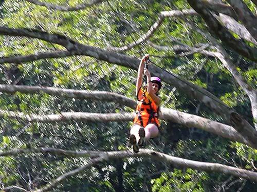 Zipline near Chiang Mai.