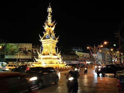 Clock square in Chiang Rai.