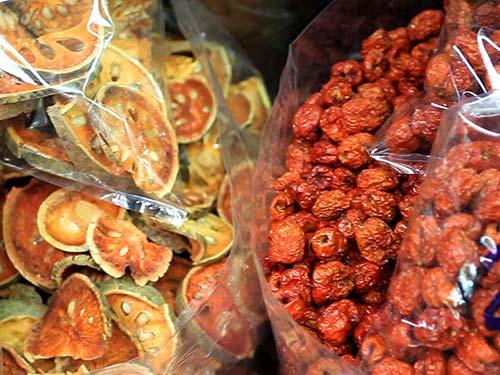 Merchandise in the market, Chinatown.