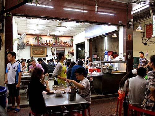 Restaurant in Yaowarat Avenue, Chinatown.