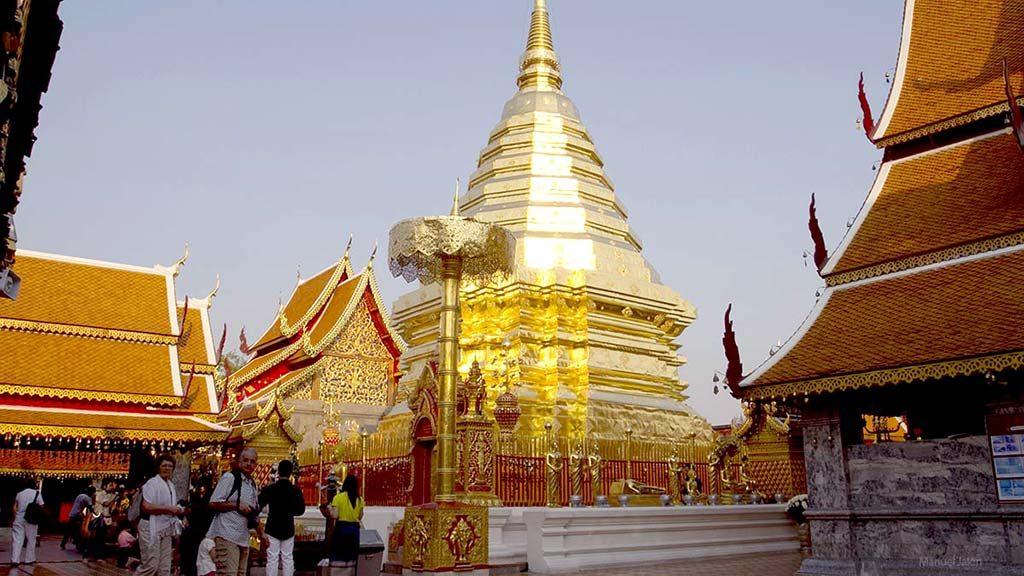 Golden stupa, Wat Doi Suthep.