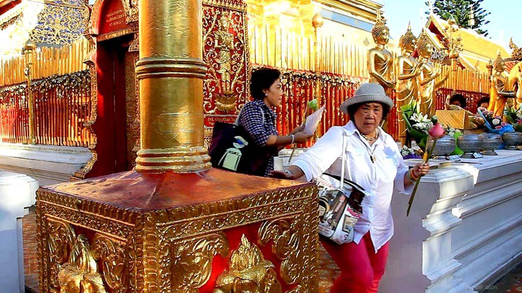 The corridor around the stupa, Wat Doi Suthep.