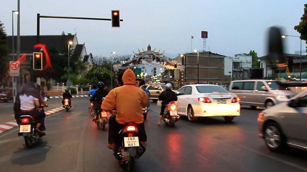 Chiang Mai city road.