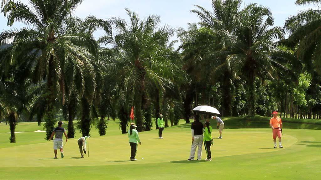 Golf course in Thailand.
