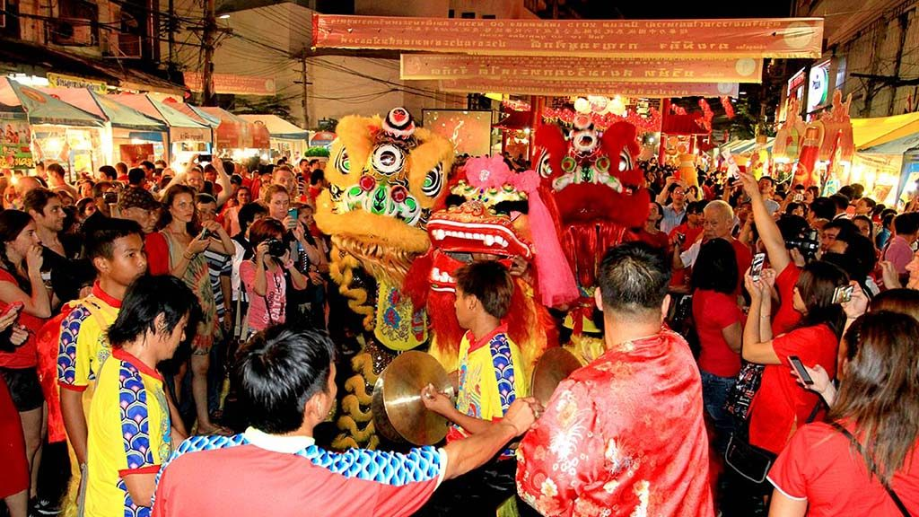 The celebration of the Chinese New Year.