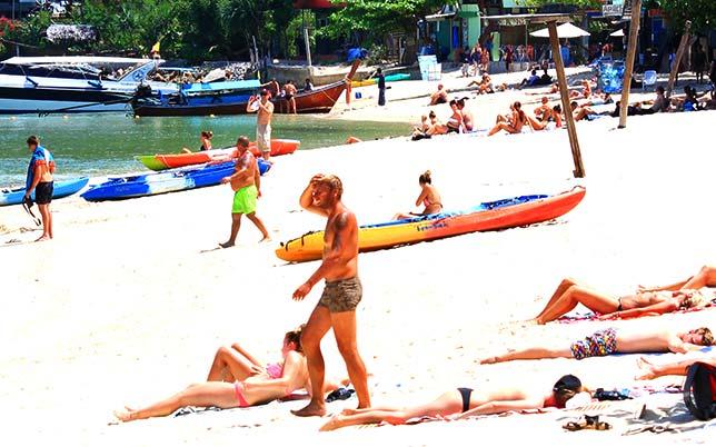 Koh Phi Phi beach.