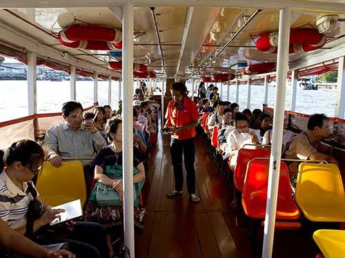 Chao Phraya Express boat.
