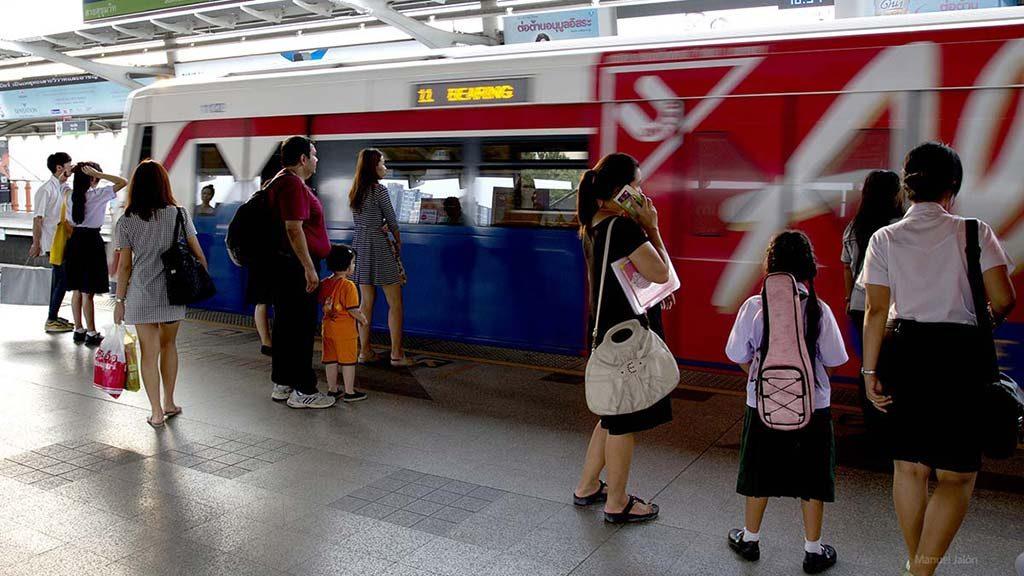 BTS Skytrain station, Bangkok