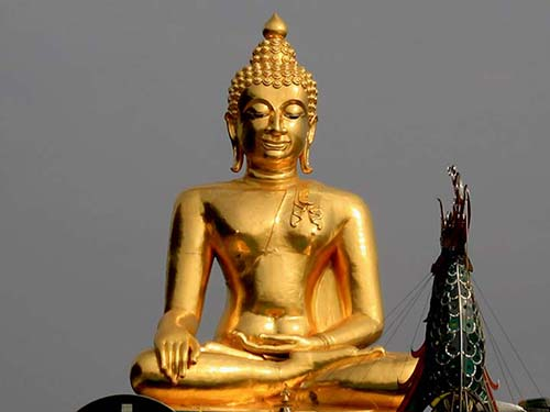 Golden Buddha in the Golden Triangle.