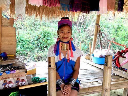Padaung tribe girl.