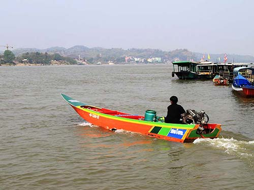 Mekong River from the Laos shore.