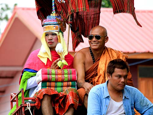 Buddhist monk and novice.