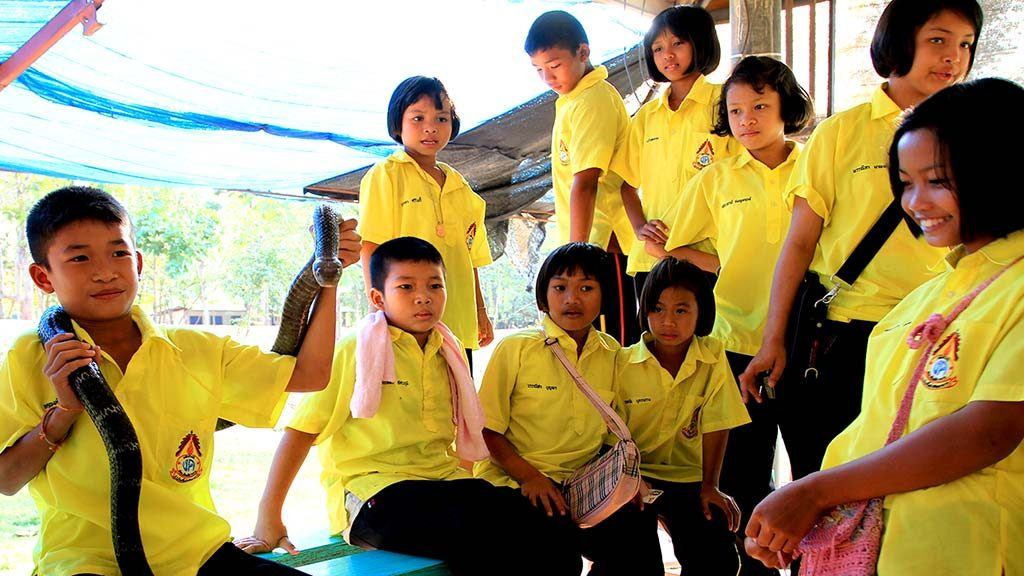 School visit in Udon Thani.