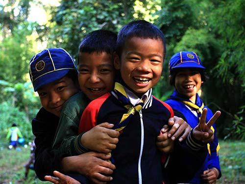 Boy Scouts in Mae Hong Son.