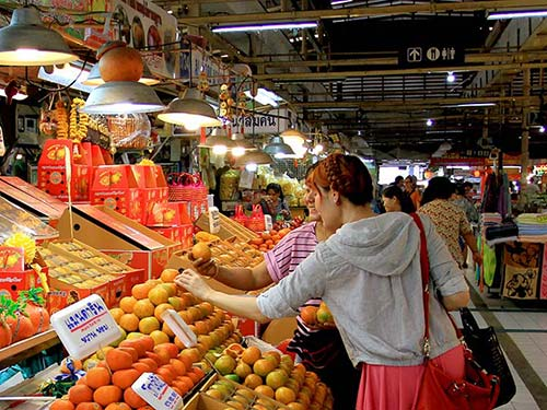 Or Tor Kor fresh produce market.