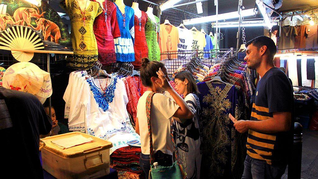 Khaosan Road market.
