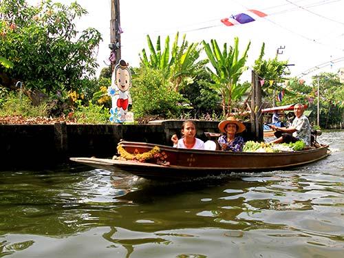 Canals near Lat Mayom floating market, Bangkok.