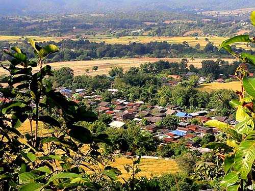 Village in the Pai Valley.