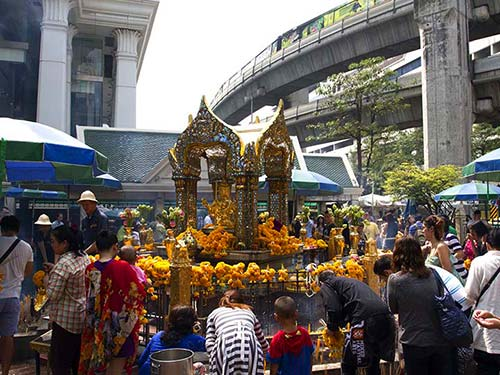 Erawan Shrine in the Siam district.