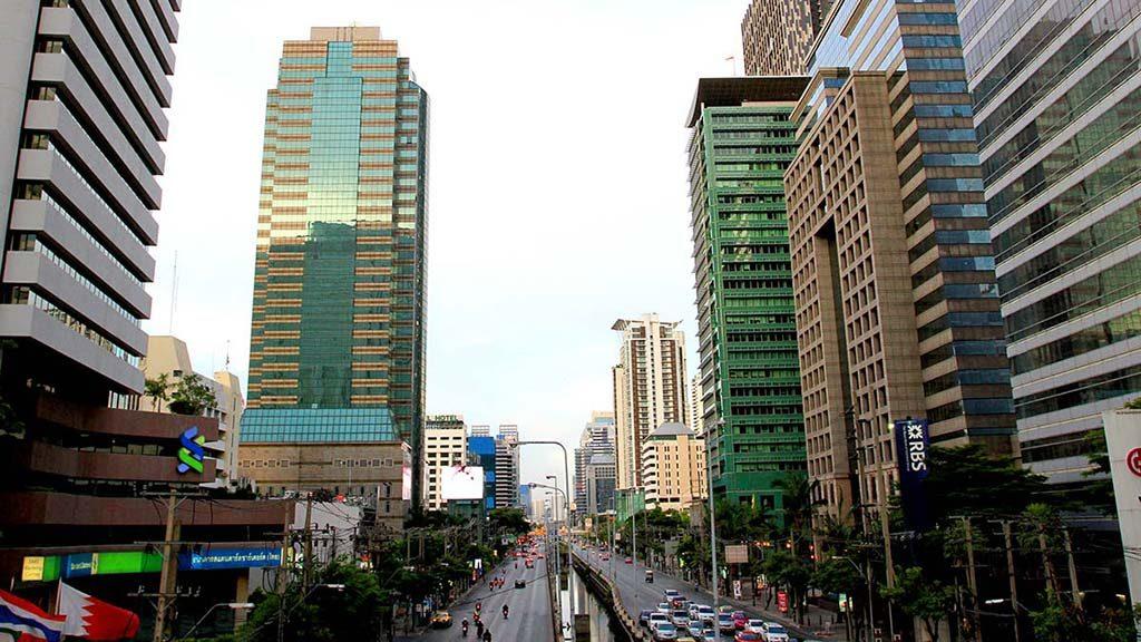 Main avenue of Silom district.