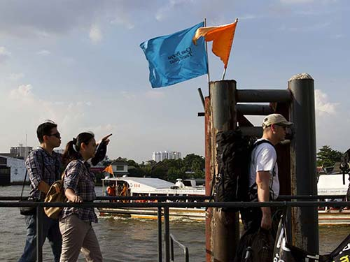 Platform of a pier of the Chao Phraya river.