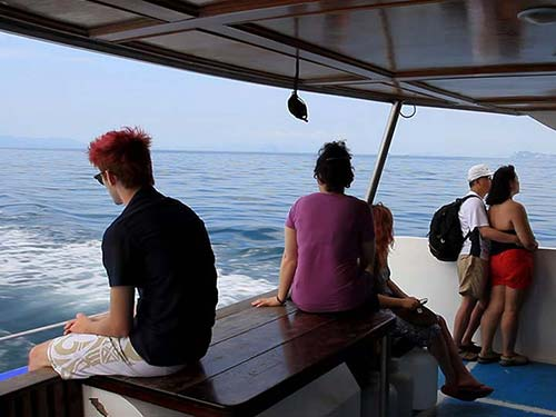 Ferry in the Andaman Sea.