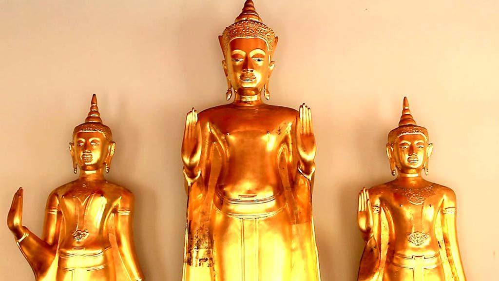 Buddhas, Wat Pho, Bangkok.