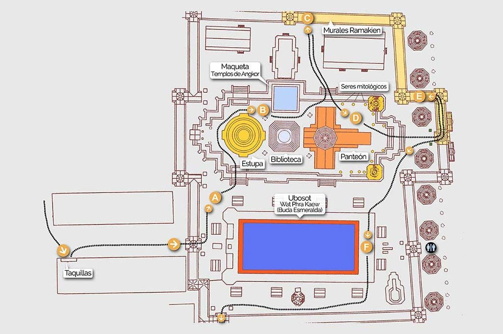 Grand Palace, map 1.