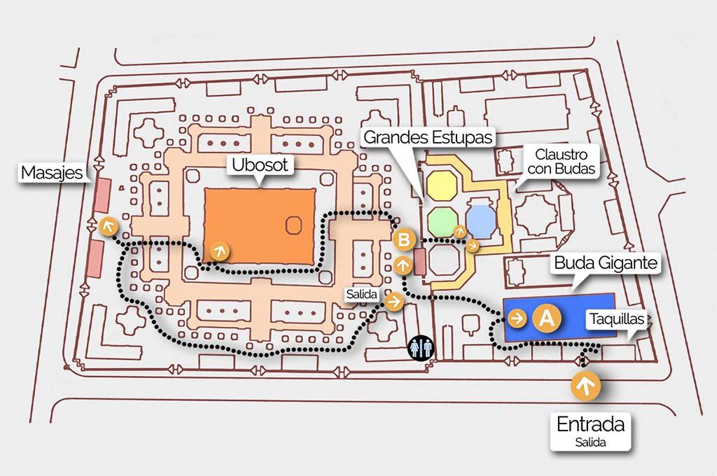 Map of the Wat Pho enclosure.