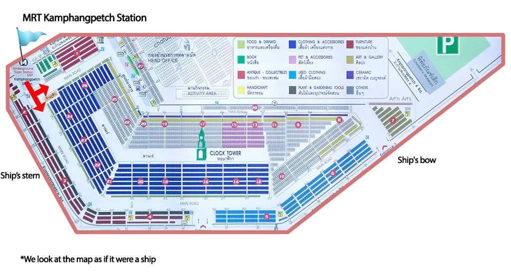 Chatuchak market map.
