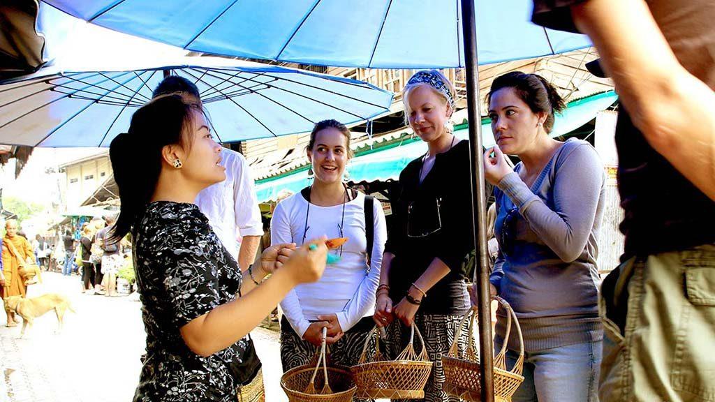 BaanThai Cookery School, visiting the fresh produce market.