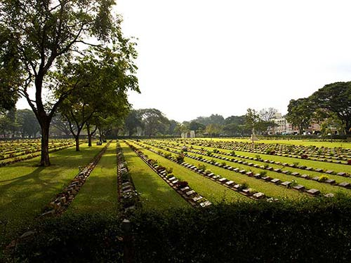 Cemetery of the Allied Soldiers in Kanchanaburi.