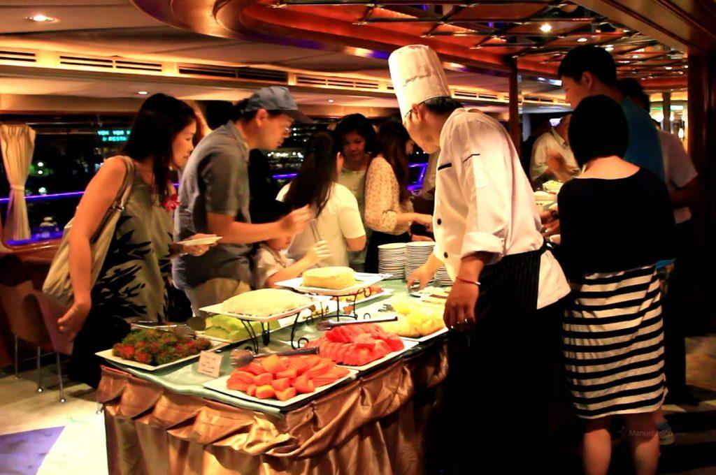 Grand Pearl cruise buffet.