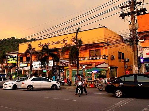 Shops in Khao Lak.