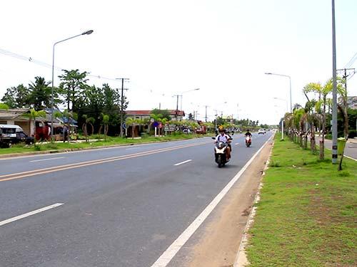 Main Road of Khao Lak.
