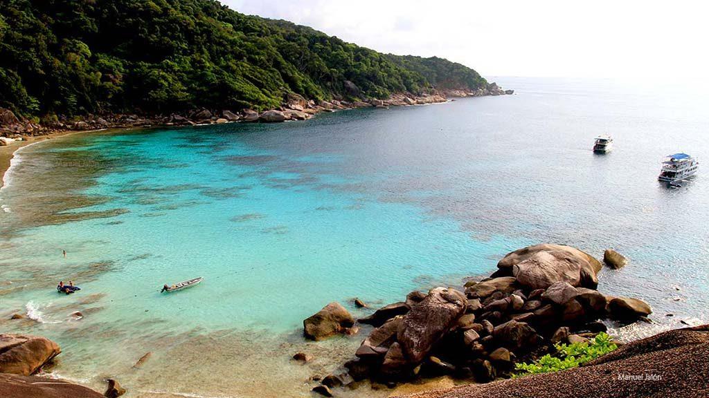 Similan islands.