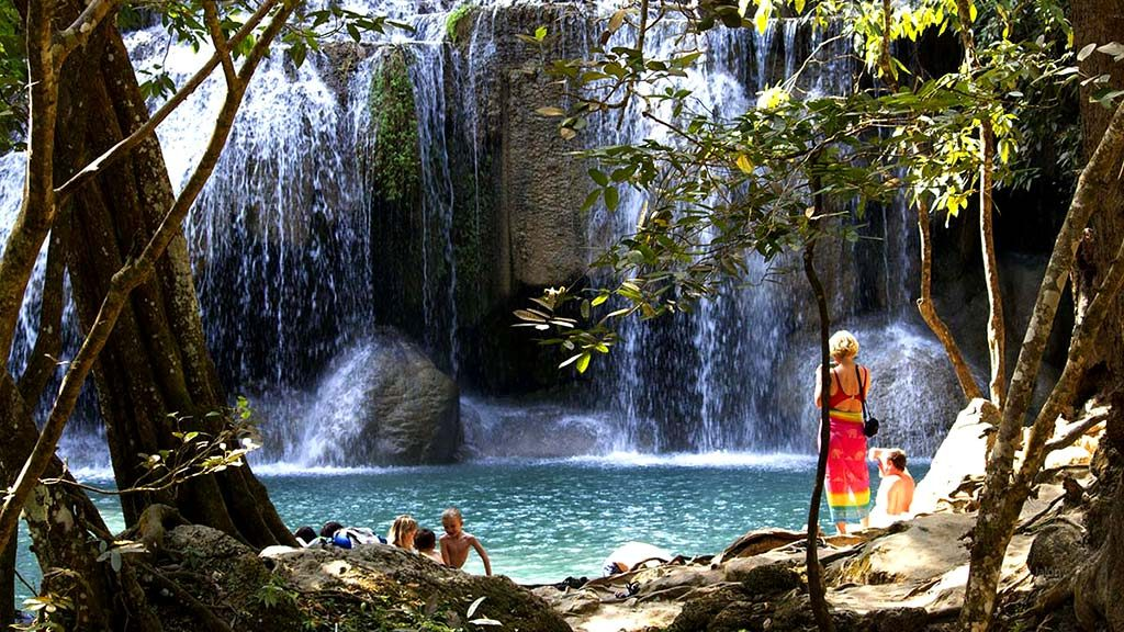 Erawan Waterfalls.