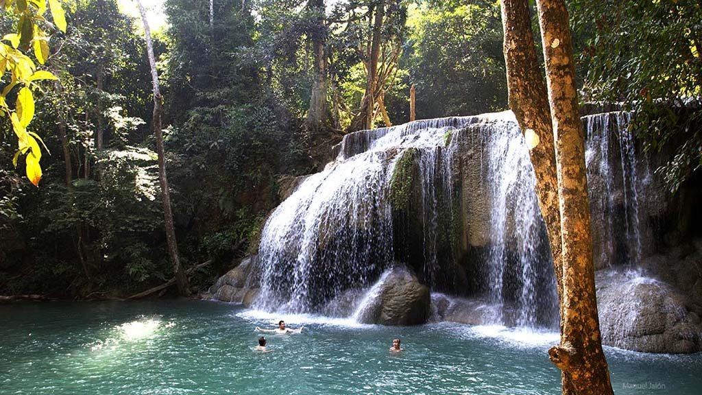 Waterfall, Erawan National Park.