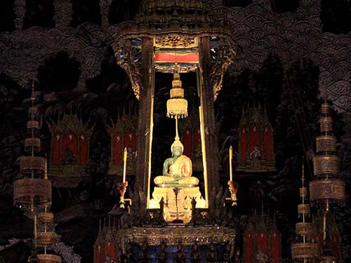 The Emerald Buddha.