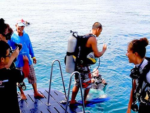 Scuba diving.