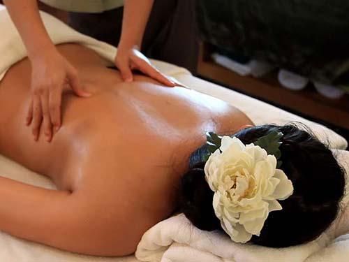 Massage in a spa.