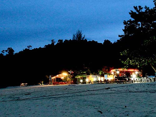 Koh Ngai beach in the evening.