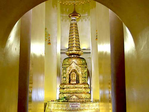 Interior of the stupa, Wat Saket.